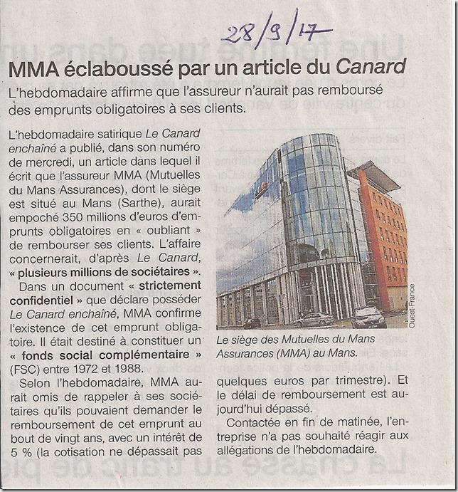 MMA vues par Ouest France